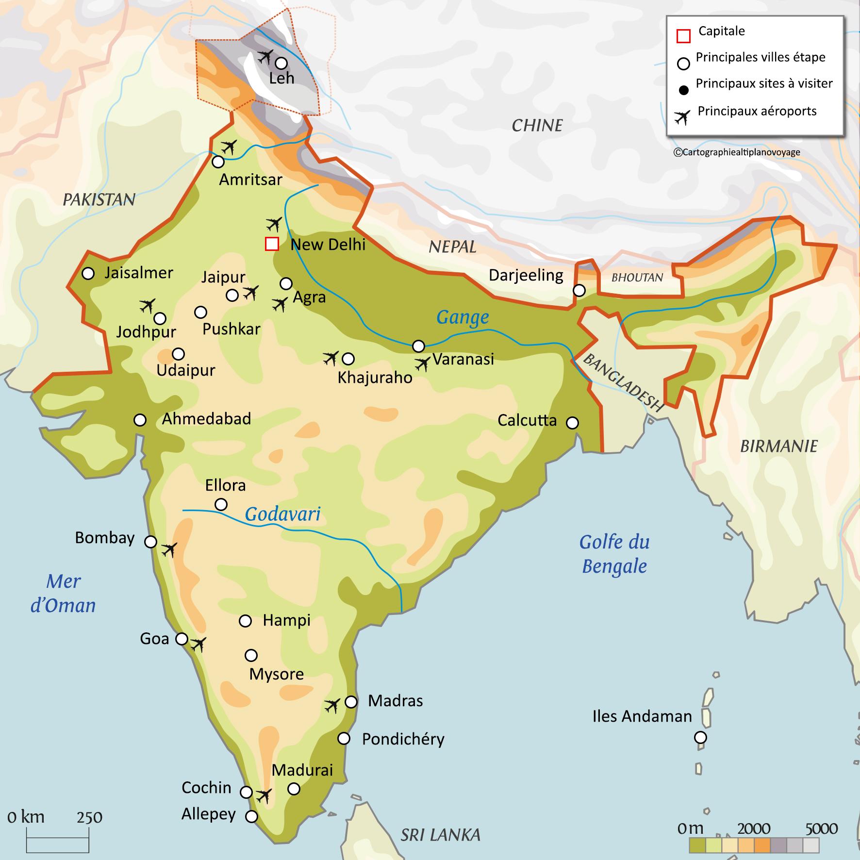 Carte De Linde Avec Le Gange.Informations Pratiques Du Voyage En Inde