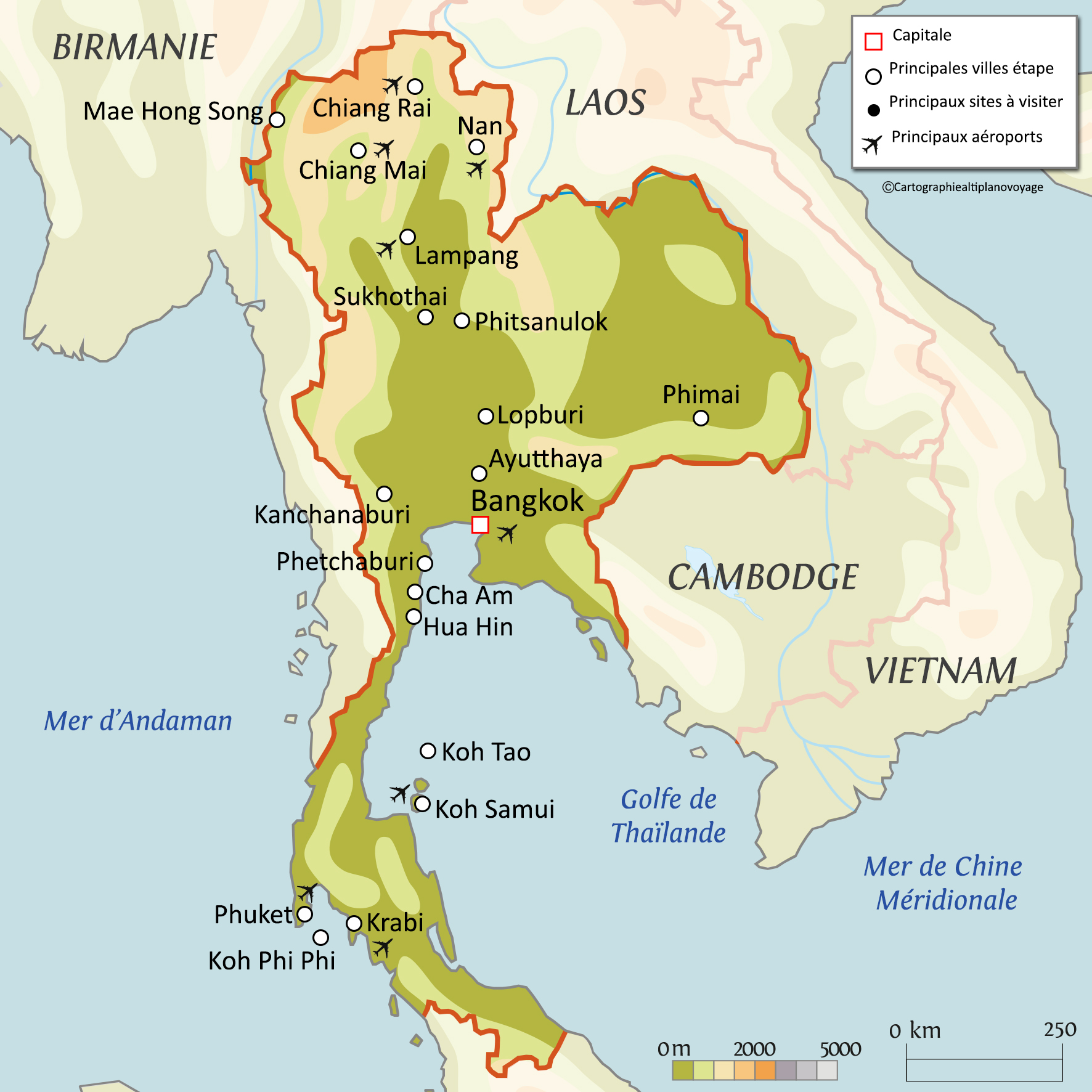 Mer Thailande Carte.Informations Pratiques Du Voyage En Thailande