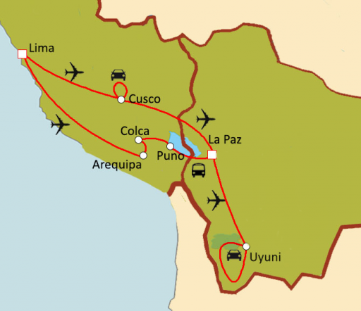 Couleurs andines : Pérou - Bolivie