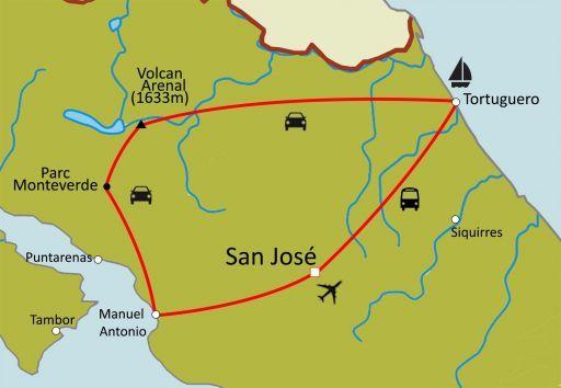 Trésors du Costa Rica au volant