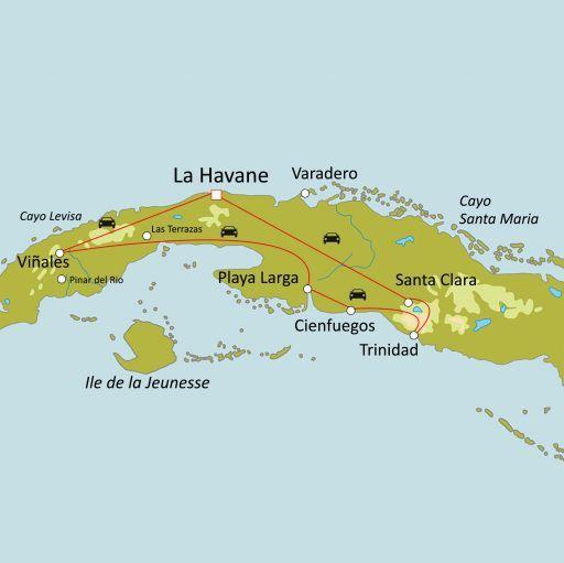 Cuba avec chauffeur/guide francophone