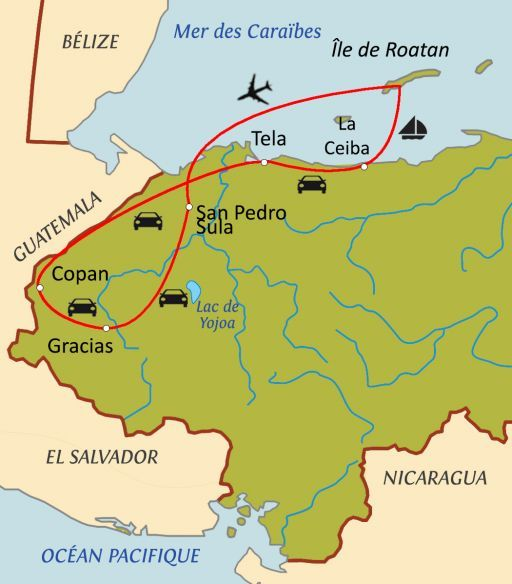 Trésors du Honduras avec chauffeur