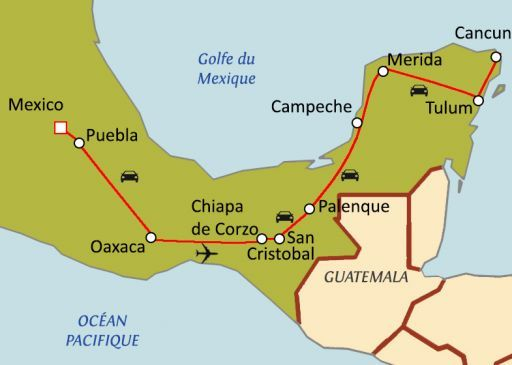 Trésors du Mexique avec chauffeur