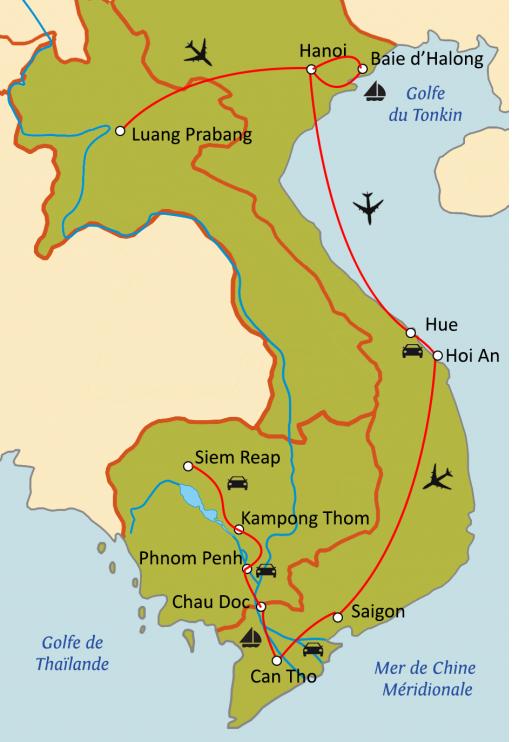 Au fil du Mékong : Laos - Vietnam - Cambodge
