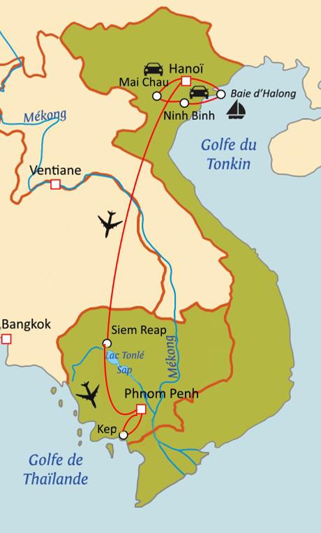 Extrait d'Indochine : Vietnam - Cambodge